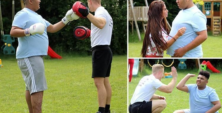 Katie Price's family approve of 'mature' toyboy boyfriend Kris Boyson as he starts training her son Harvey in the gym