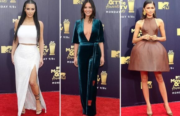 MTV Awards red carpet best dressed sees Kim Kardashian and Olivia Munn lead the glamour