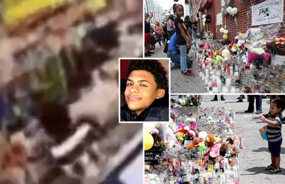 Bronx murder victim 'Junior' was KICKED OUT of shop while begging for help after being butchered by gang, new CCTV shows
