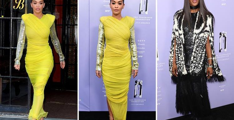 Rita Ora and Naomi Campbell ooze glamour in eye-catching outfits at Fragrance Foundation Awards