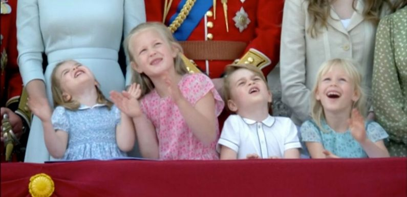 Cute Princess Charlotte steals the show on Palace balcony at RAF fly-past