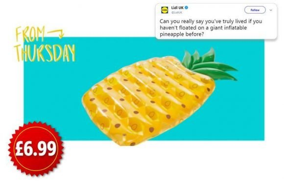 Lidl launch £6.99 pineapple pool float that's perfect for your summer holiday