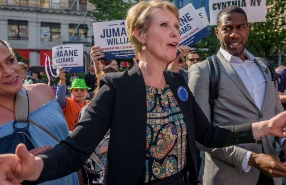 Cynthia Nixon promotes New York governor campaign with Sex And The City merch