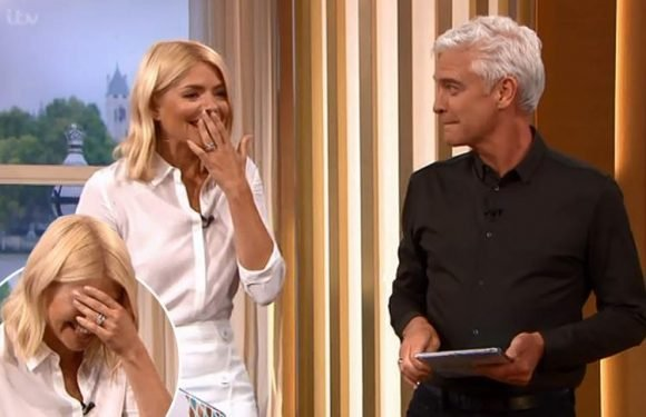 Holly Willoughby gets the giggles on This Morning as she talks about 'summer-ready vaginas'