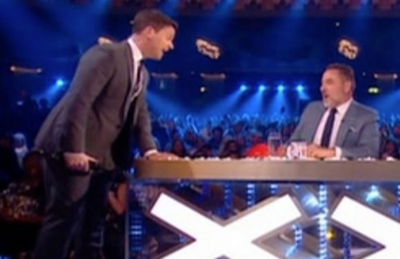 Dec fumes at David for 'getting on his nerves' and slaps him on the bum on BGT