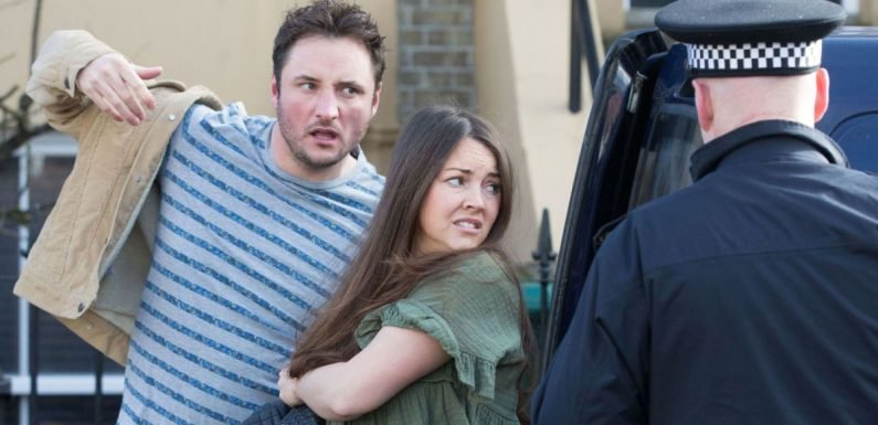 EastEnders' Stacey and Martin stopped by police after taking sex antics too far