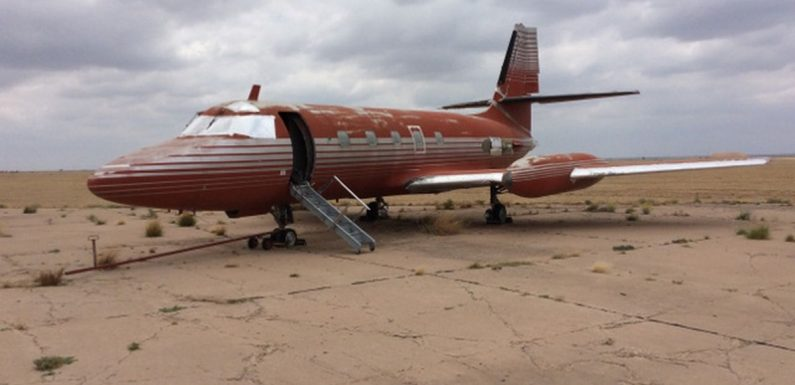 Elvis Presley's rusted private jet for sale after 36 years sitting on airstrip