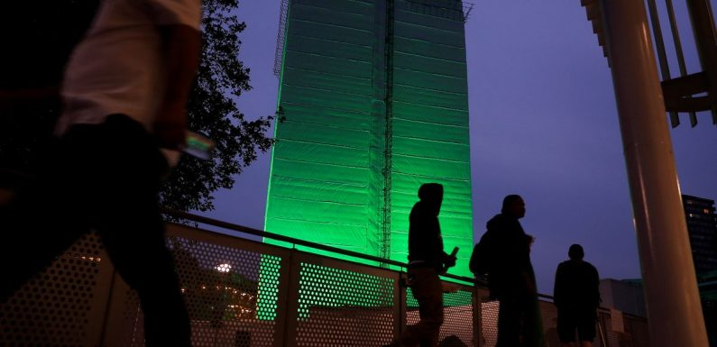 Grenfell Tower lit up green to mark one year since tragedy that killed 72