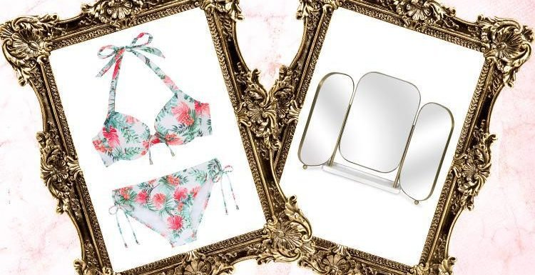 A three-way mirror and a tropical bikini… here's what we're lusting after today