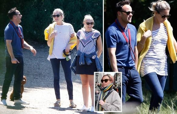 Ant McPartlin has a laugh with two female pals as he's seen for first time since romance with Anne Marie Corbett was revealed
