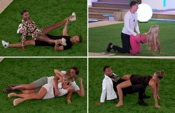 Love Island spoilers: Dr Alex and Ellie Brown recreate sex positions together in VERY raunchy game
