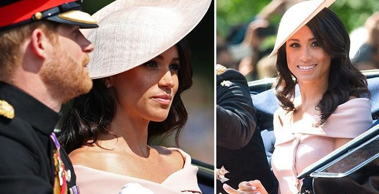 Meghan Markle breaks Royal rules at Trooping the Colour with off-shoulder Carolina Herrera dress