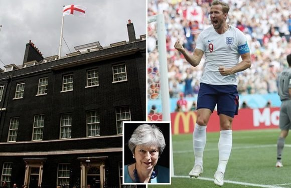 Victory for The Sun as Theresa May agrees to fly England flag at Downing Street during the World Cup