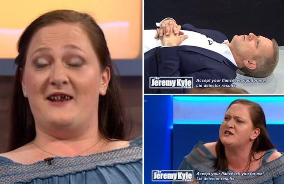 Jeremy Kyle viewers put off their breakfast by guest's 'tomb stone' teeth as she argues with her boyfriend's jealous ex'