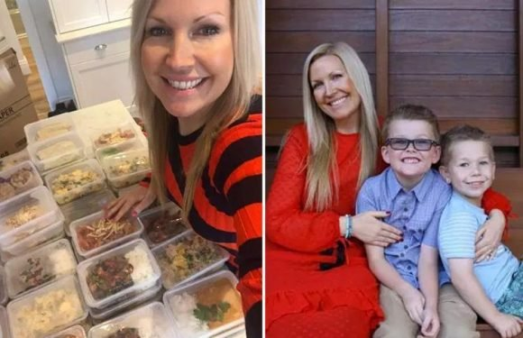 Thrifty mum feeds her family of four for just £34 a week by prepping 28 healthy meals