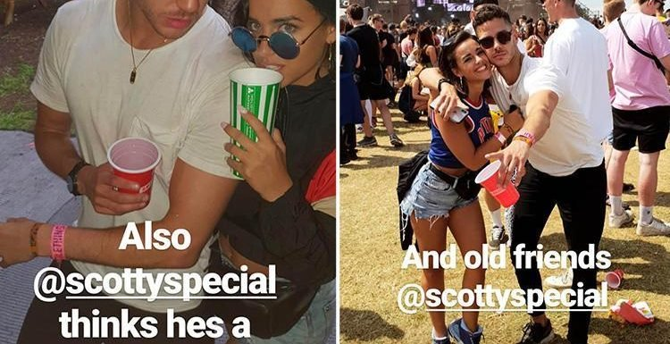 Love Island's Scott Thomas cuddles up to Georgia May Foote at Parklife Festival in Manchester