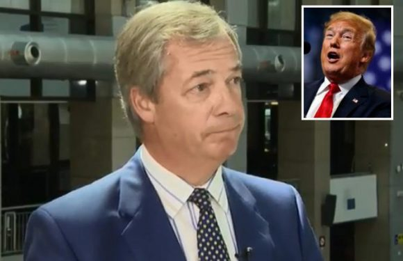 Nigel Farage forced to deny he's 'done a Donald Trump' and dyed his hair blonde