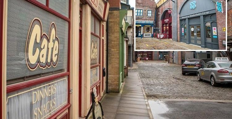 Coronation Street set 'targeted by swingers for sex' as thrill-seekers share kinky snaps outside Dev's corner shop
