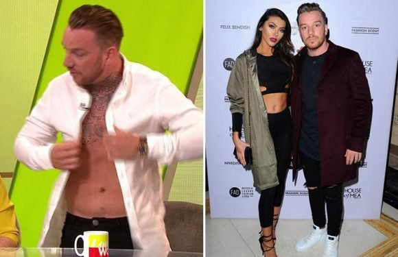 Jamie O'Hara reveals he got back with Elizabeth-Jayne Tierney so she wouldn't do Love Island as he strips off to show results of liposuction