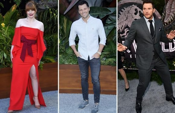 Mark Wright joins Hollywood A-listers Chris Pratt and Bryce Dallas Howard on the red carpet at Jurassic World: Fallen Kingdom premiere