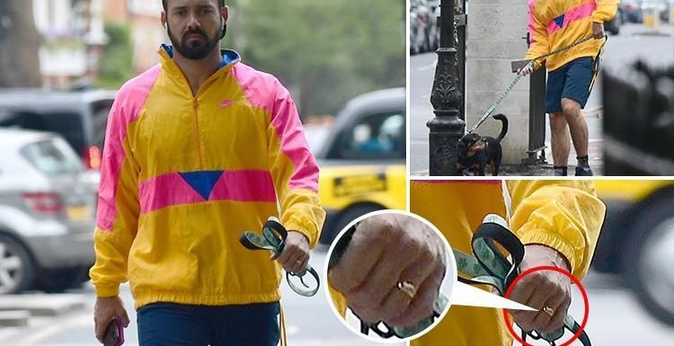 Spencer Matthews flashes his wedding ring as he's spotted for the first time since marrying Vogue Williams