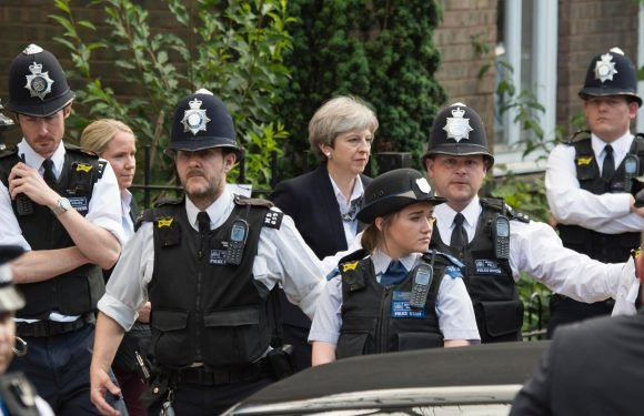 Theresa May attends Grenfell service and speaks to survivors nearly one year on from tragic blaze