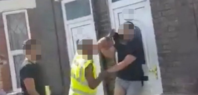 'Road rage street brawl' takes bizarre turn when one of them is stripped naked