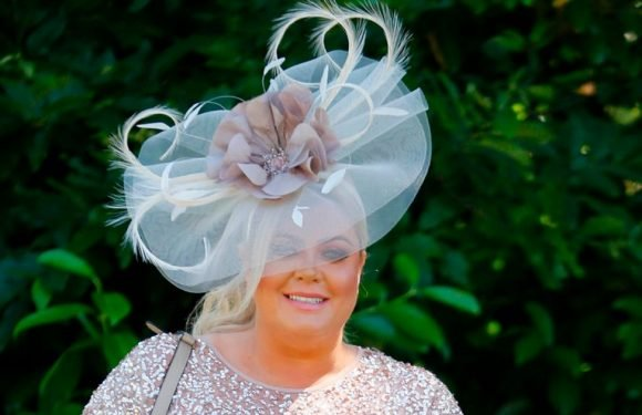 Gemma Collins hits the booze early as she delights in enormous hat at Ascot