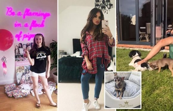 Inside Scarlett Moffatt's £300,000 mansion with a black furry BED, huge neon sign and pink sofas