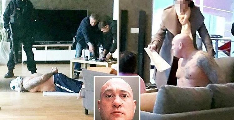 Moment 'untouchable' drug lord James Mulvey is arrested after 'living like a ghost' for seven years to avoid cops over £68m smuggling racket