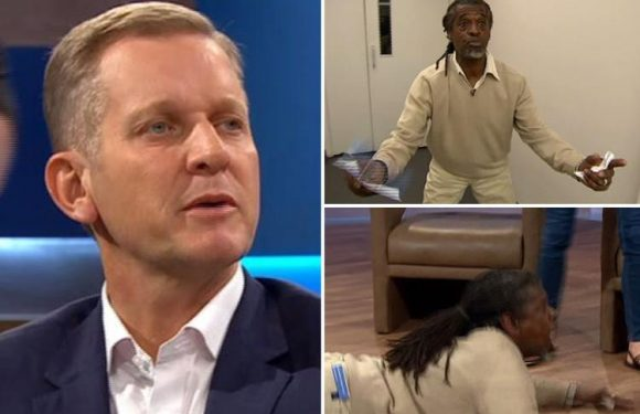 Jeremy Kyle Show guest causes carnage as he has a meltdown onstage and runs out of the studio