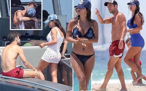Cesc Fabregas forgets Spain World Cup snub as Chelsea ace relaxes on luxury yacht and beach with stunning wife Daniella Semaan