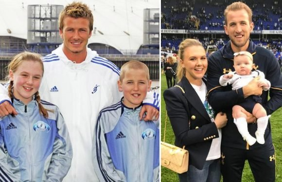 England star Harry Kane posed with David Beckham AND his childhood sweetheart when aged 11, seven years before they began dating
