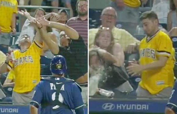 Pittsburgh Pirates fan loses beer in hilarious fashion after terrible catch attempt
