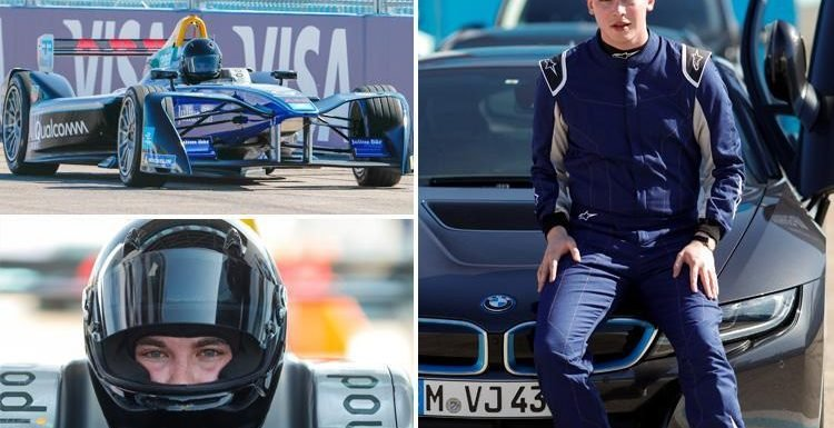 SunSport man takes Formula E car for a spin and is taught by driver in Germany at Berlin E-Prix Circuit