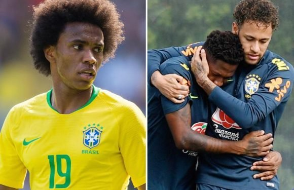 Fred congratulated by Neymar on Manchester United switch as Willian insists he's joined 'one of best teams in world'