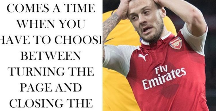 Arsenal ace Jack Wilshere appears ready to start new career chapter after cryptic post