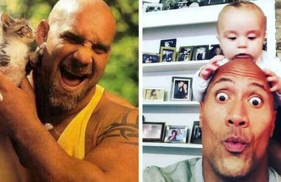 15 Photos Of Tough WWE Wrestlers Being Total Softies IRL