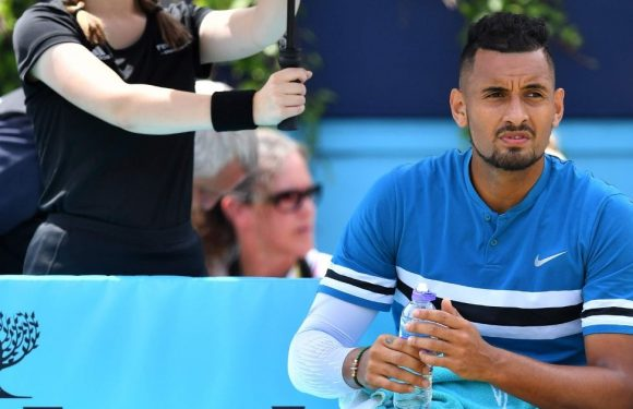Nick Kyrgios hit with fine after X-rated gesture at Queen's Club