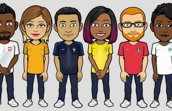 Football fans can now dress their Bitmoji characters in World Cup kits