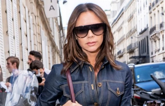 How to look posh in double denim like Victoria Beckham