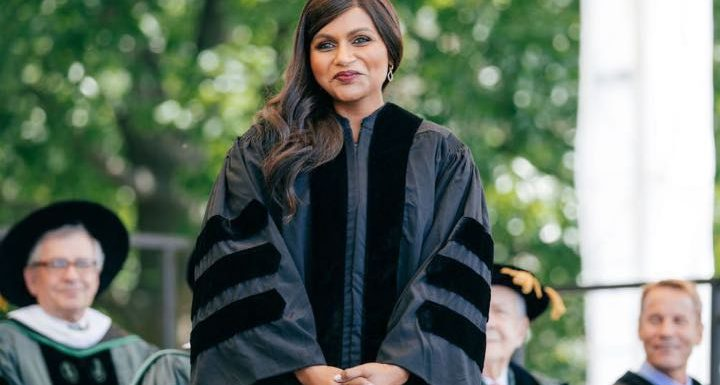 Mindy Kaling Shades Donald Trump at Darthmouth College Commencement