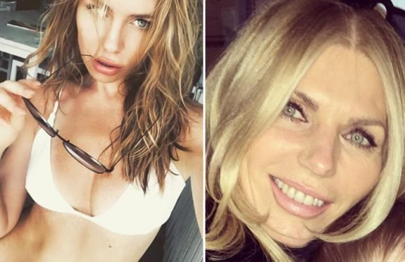 Abbey Clancy stuns fans with a pic of her young-looking mum Karen, 58, as followers insist they could be SISTERS