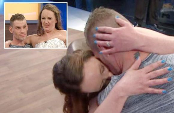 Jeremy Kyle viewers stunned as guest runs out on stage in a WEDDING DRESS and snogs her boyfriend
