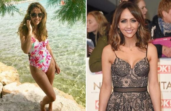 Coronation Street's Samia Longchambon poses in a floral one-piece in throwback pic of Greek holiday