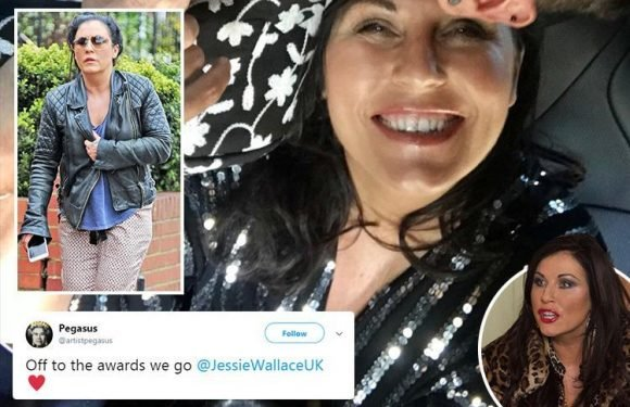 Jessie Wallace ordered home from the British Soap Awards for being too drunk after an all-day bender that started at 4pm