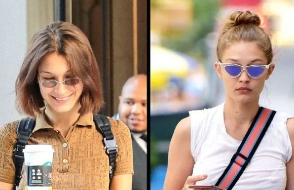 Bella and Gigi Hadid Denim Cutoff Shorts Style: Pics