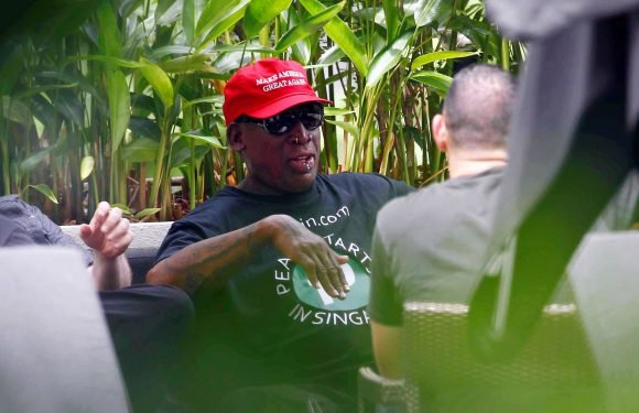 Dennis Rodman talks poolside about the Trump-Kim summit