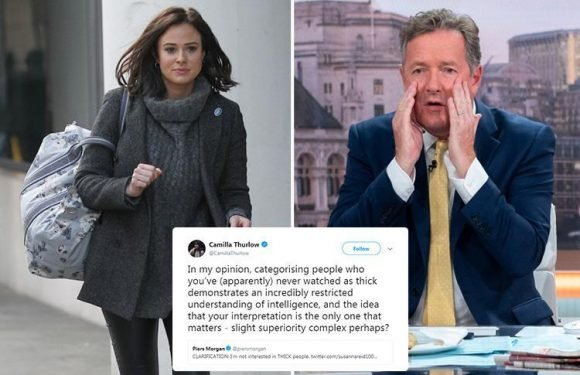 Love Island's Camilla Thurlow blasts Piers Morgan after he calls this year's stars 'thick'