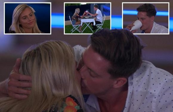 Love Island viewers go wild as Dr Alex George gets a snog with Ellie Brown after sweetening her up with pudding
